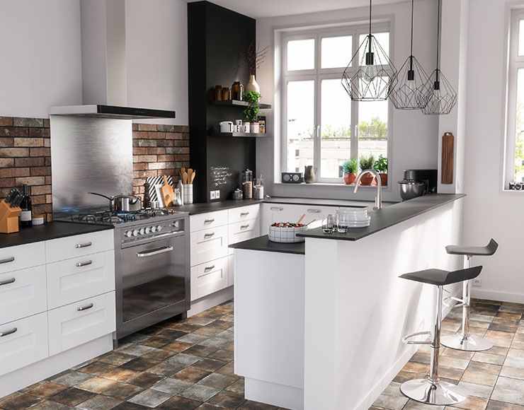 Castorama : Cuisine Kadral Blanc. Une cuisine de caractère ...