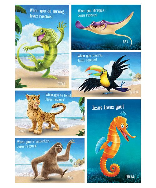 Bible Point Posters (set of 6) - Shipwrecked VBS