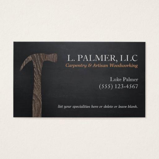 Epingle Sur Carpenter Business Cards