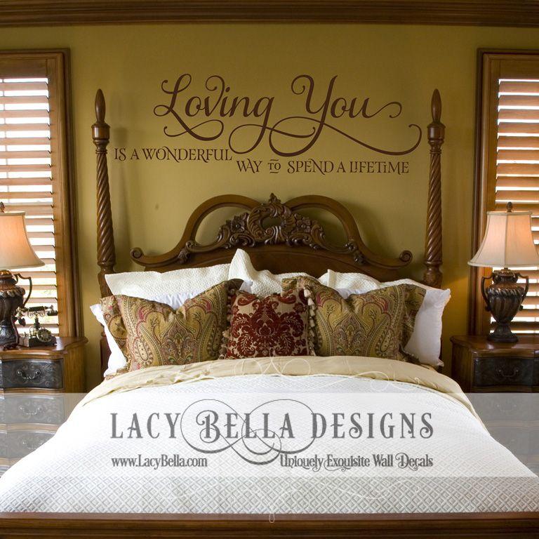 Marvelous Wall Decal Master Bedroom Romantic Idea Blank Walls