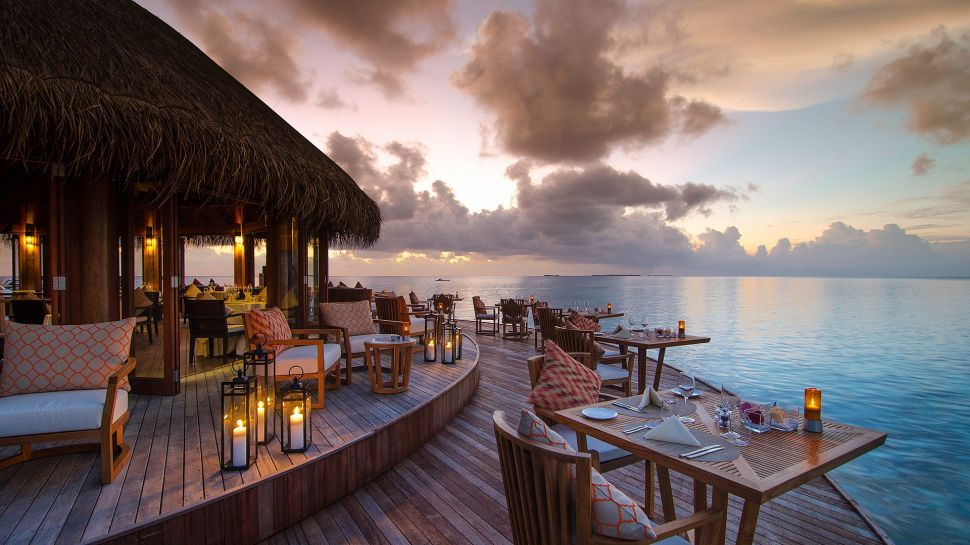 15 Breathtaking Over-Water Terraces from Luxury Hotels in Maldives    Wildluxe   Island resort, Maldives hotel, Private island resort