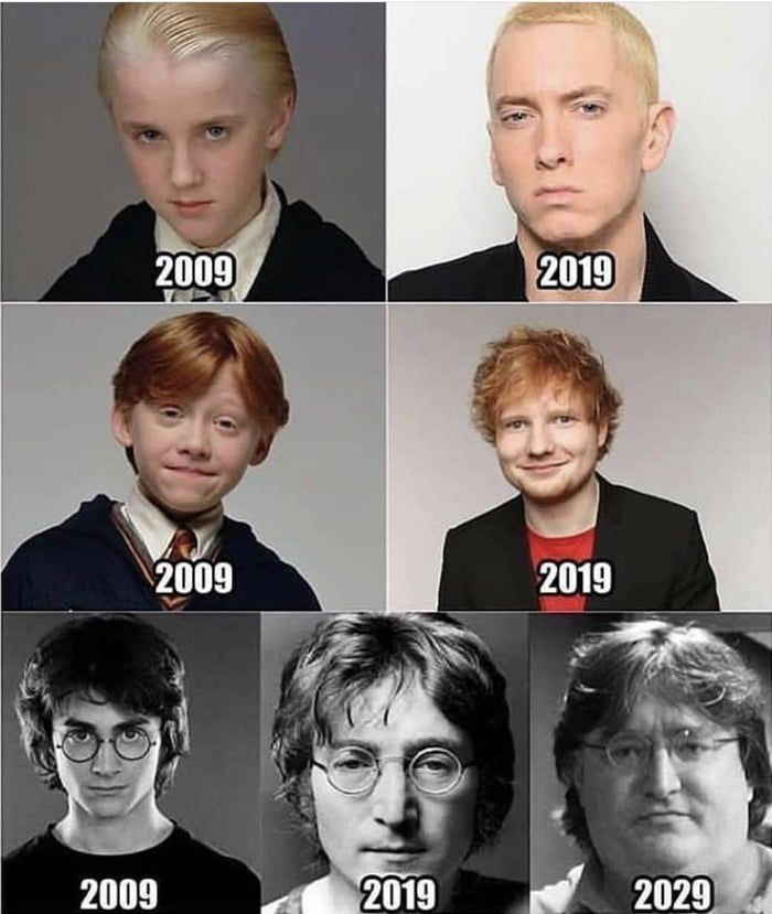 Harry Potter Cast From 2009 To Present With Harrys Future 2009 Cast From Future Harry In 2020 Harry Potter Cast Harry Potter Memes Hilarious Harry Potter Puns