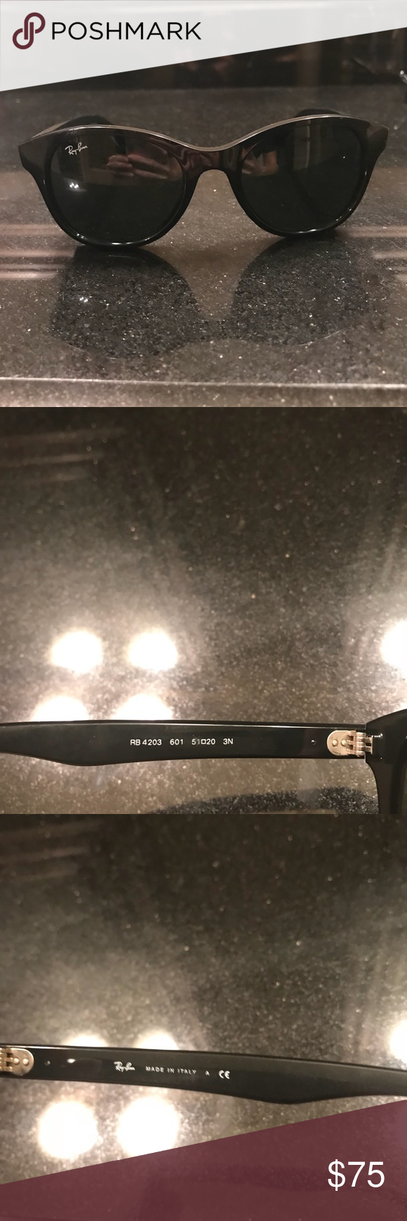Ray ban sunglasses Black classic rayban sunglasses. Comes with black ray ban leather case. Worn a few times like new. Awesome pair of classic ray bans. Purchased at off 5th Avenue saks. Ray-Ban Accessories Sunglasses