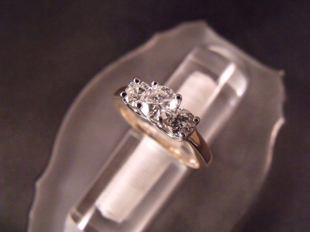 14 Karat Gold & Platinum Jewelry Diamond Past Present Future Ring