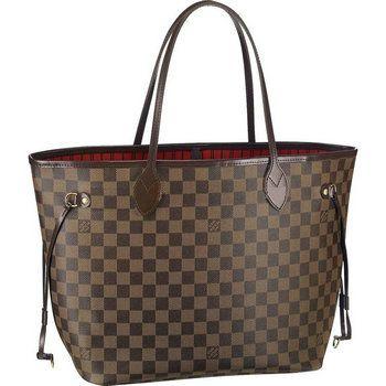 Louis Vuitton Damier Ebene Canvas Neverfull MM Brown Women Shoulder Bags  And Totes  213.95 51890de5f2d