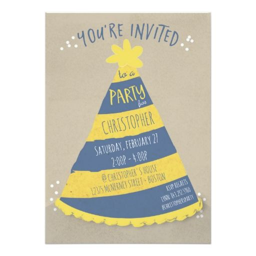 Birthday Hat Invitation