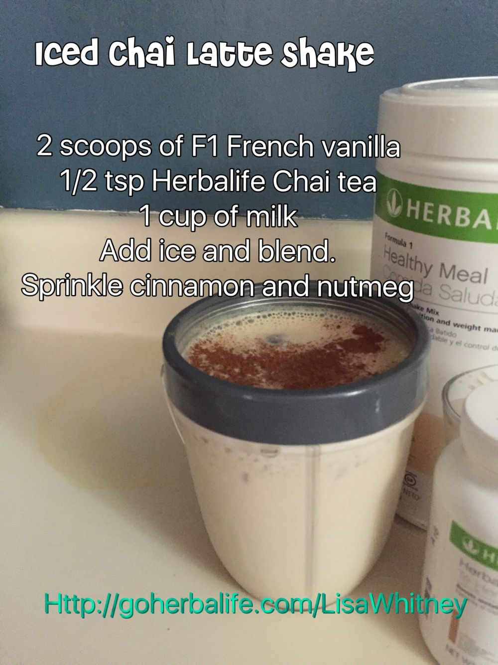 Herbalife Iced Chai Latte   Herbalife in 2019   Herbalife