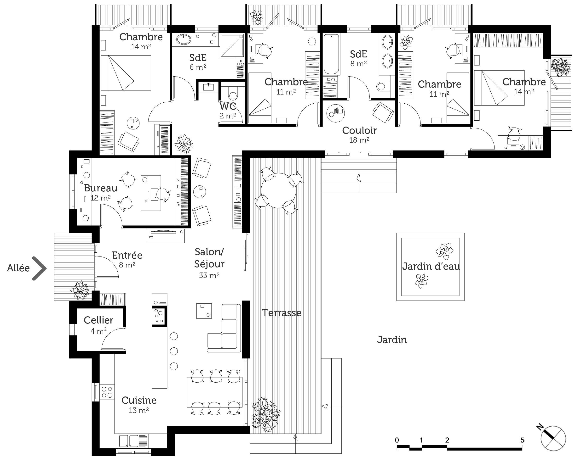 afficher limage dorigine - Plan Maison Contemporaine En L