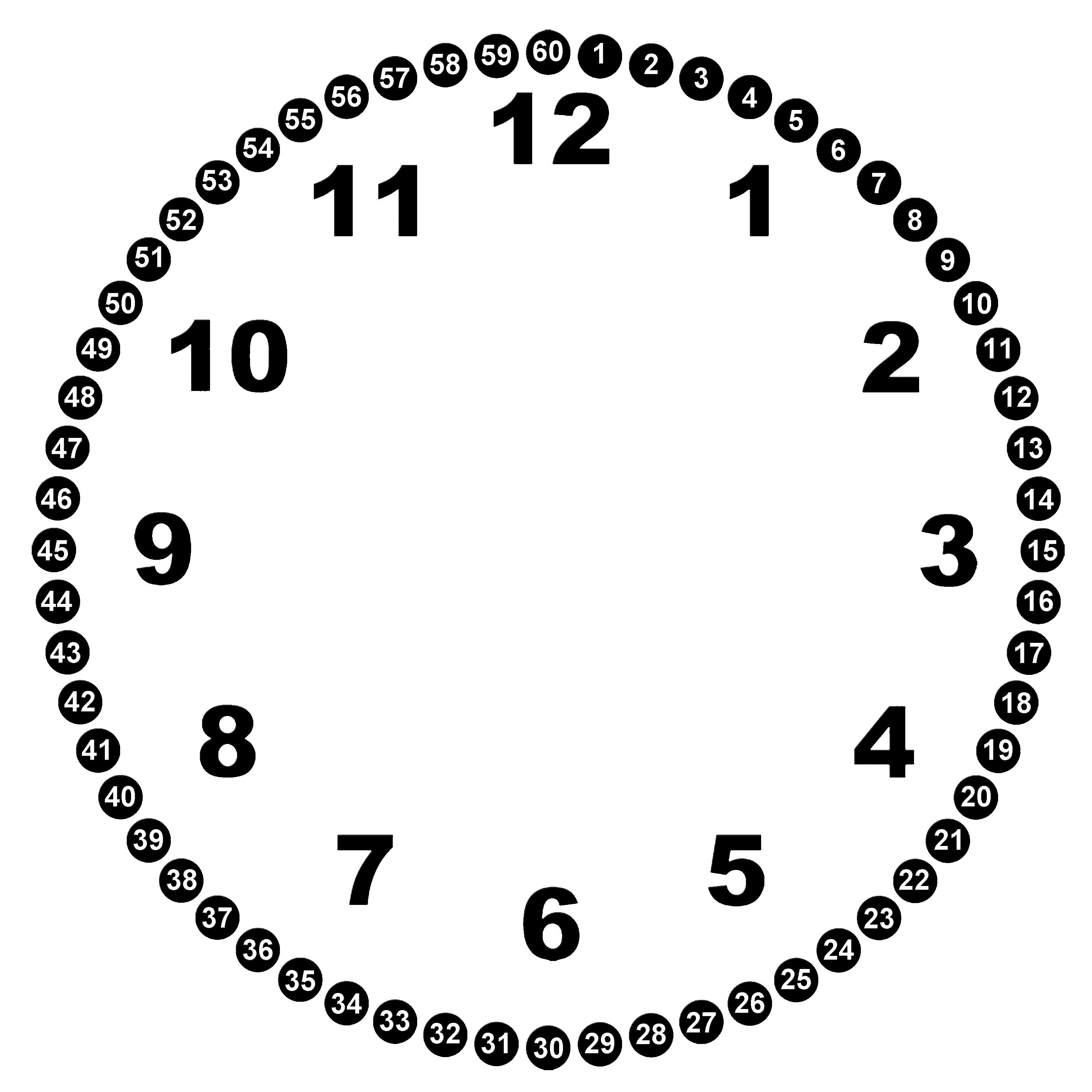 For Clock Face Template For Kids ZEGARY