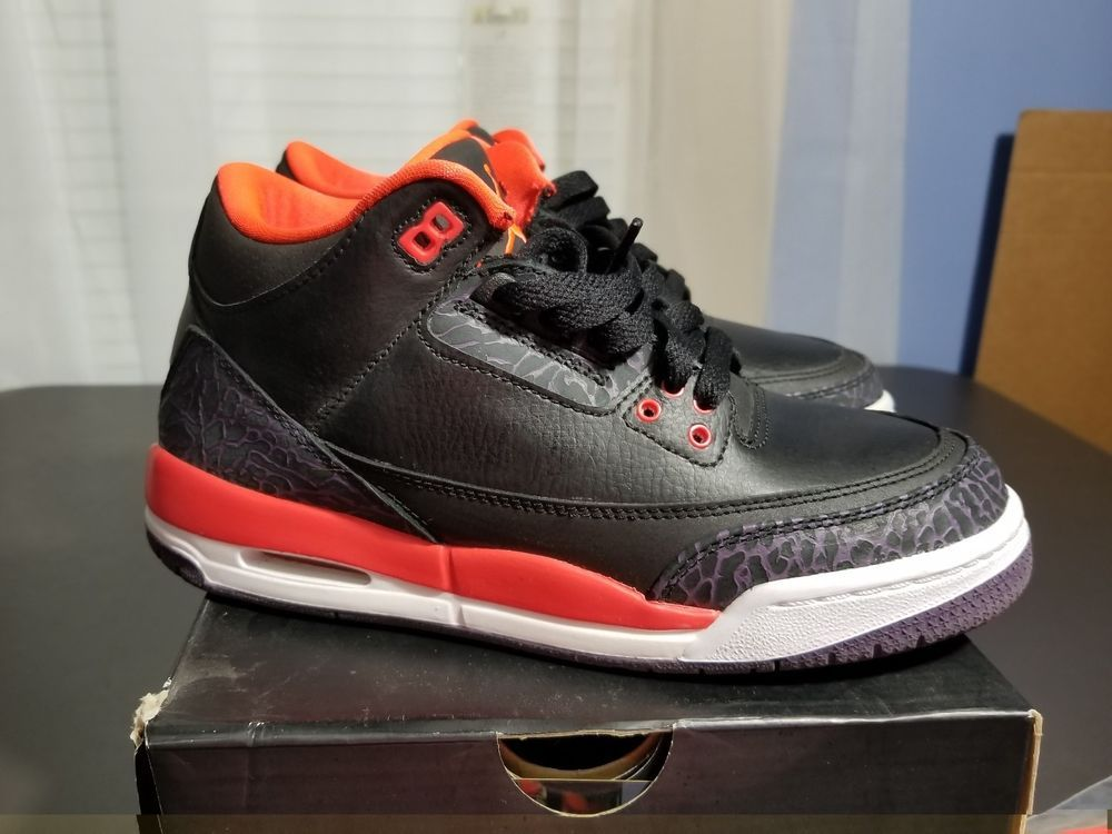 release date 97f0c 9430a eBay #Sponsored CRIMSON RED AIR JORDAN RETRO 3 SIZE 5.5 ...