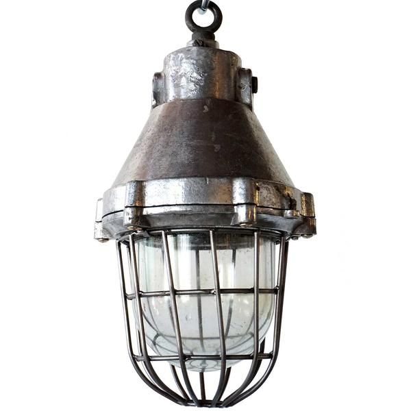 Vintage industrial pendant lights ship irons