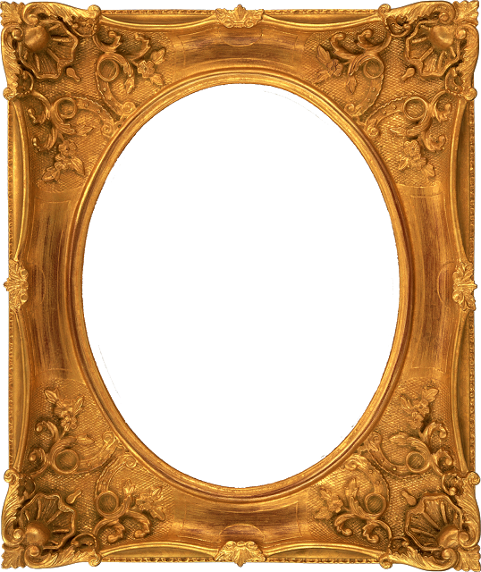 Empty Golden Vintage Frame Isolated On White Background Vintage Frames Frame Gold Picture Frames