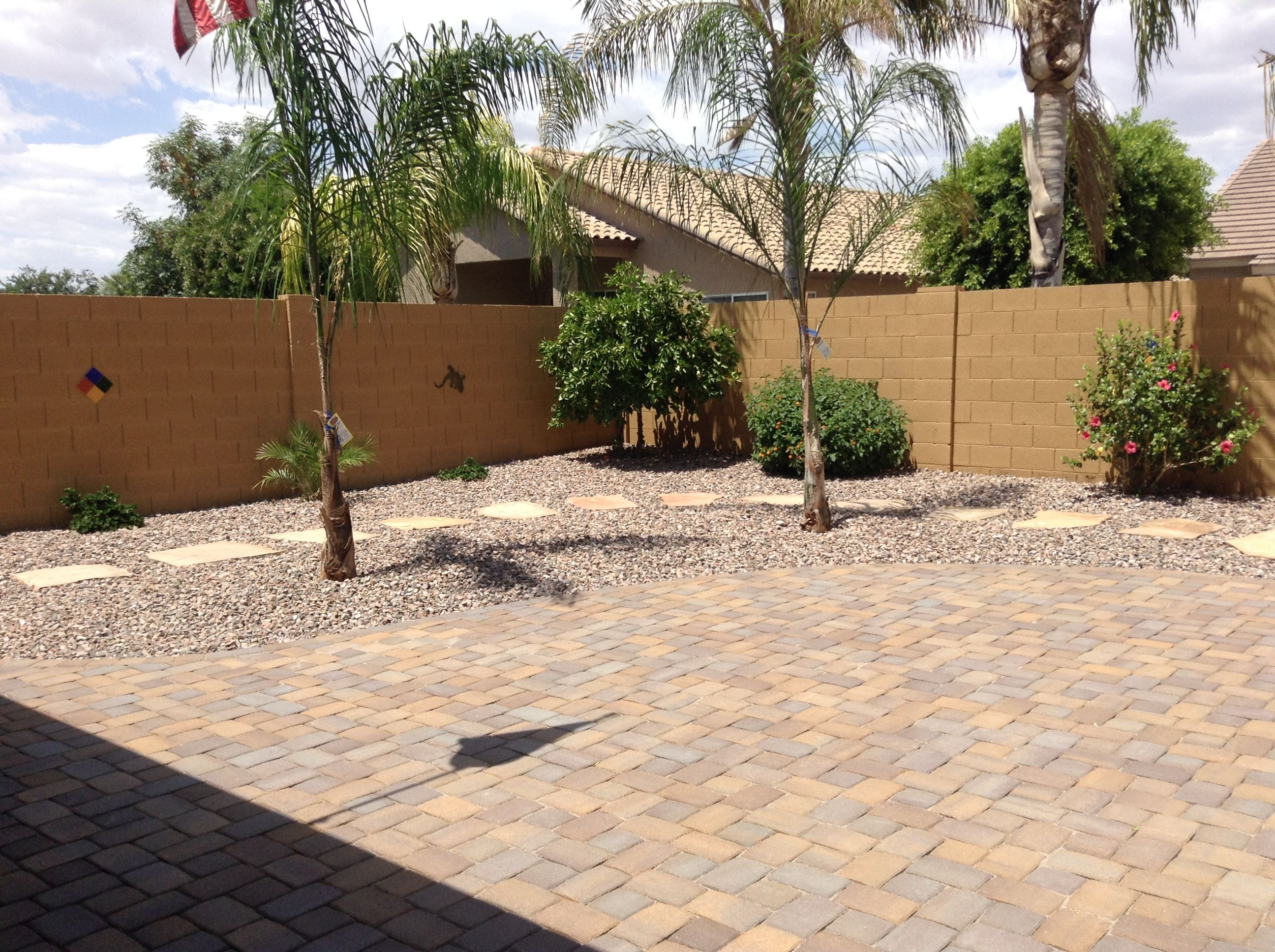 Az Block Valencia Catalina Pavers Desert Backyard