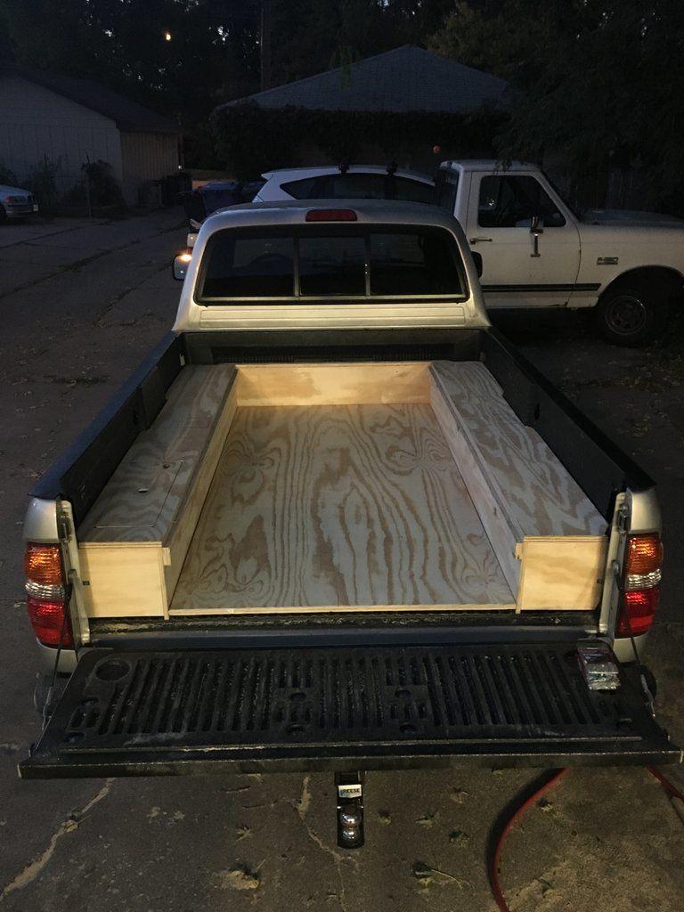 Show us your truck bed sleeping platform/drawer/storage