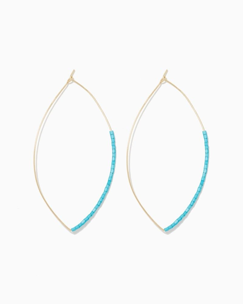 charming charlie | Thin Wire Beaded Hoop Earrings | UPC ...