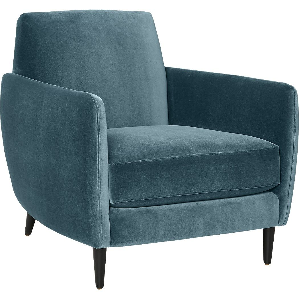 Parlour Light Blue Velvet Chair Reviews Cb2 Blue Velvet Chairs Blue Chair Velvet Chair