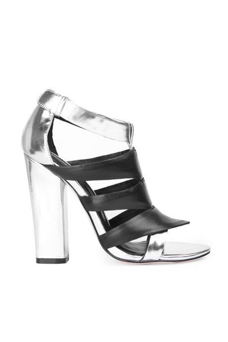 Camilla Skovgaard | Tri-Beam Silver Sandal Stiletto | MYCHAMELEON.COM.AU