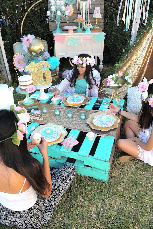 Boho Sweet 16 Party by Laura Aguirre   Shindigz - Shindigz ...