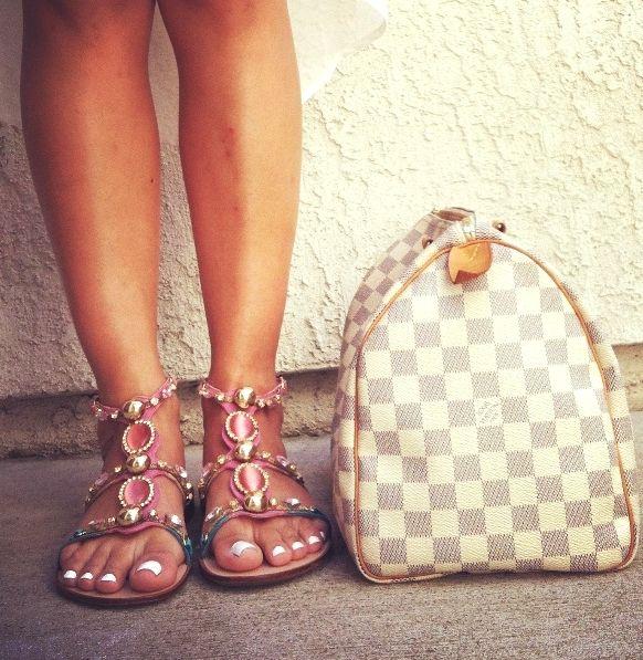 Jewel gladiator sandals