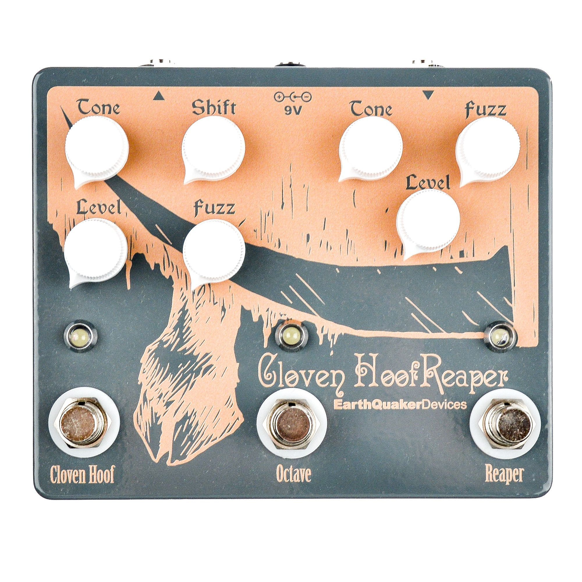 Earthquaker Devices Cloven Hoof Reaper Dual Fuzz w/Octave Up Orange