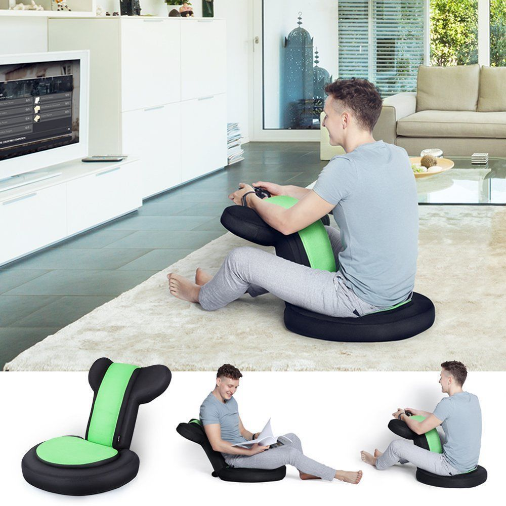 Photo of Video Gaming Chair Floor Foldable Read TV Seat Armrest Portable Child Adjustable…