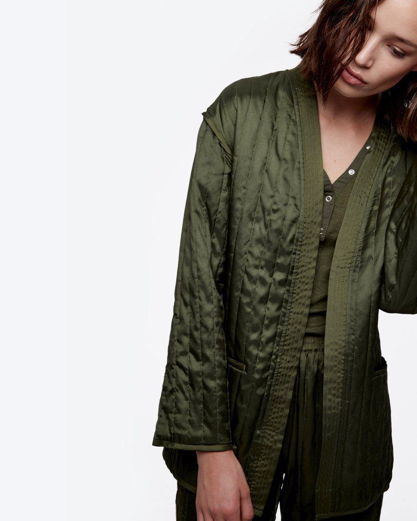 Quilted Kimono Wrap Jacket | Kimonos, Satin kimono and Kimono style : quilted kimono jacket - Adamdwight.com