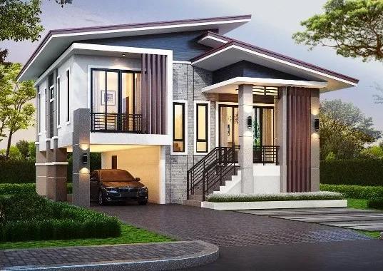7 Inspirasi Desain Rumah Atap Miring 2 Lantai Di 2020 Desain Rumah Rumah Home Fashion