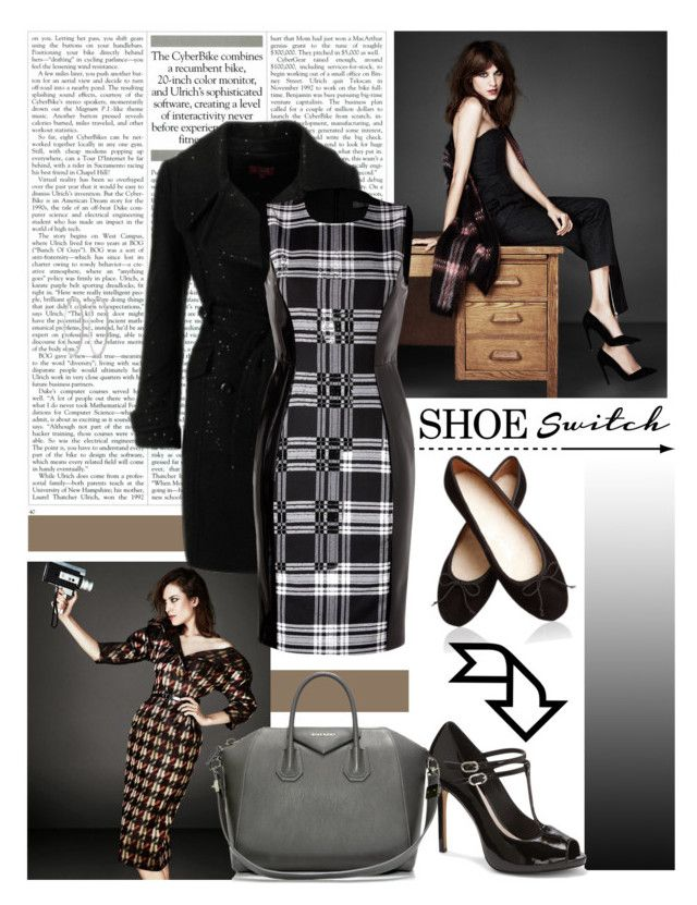 """""""Shoe switch"""" by amethystes ❤ liked on Polyvore featuring Derhy, Versace, Vince Camuto, Givenchy, Roberta Chiarella and shoeswitch"""