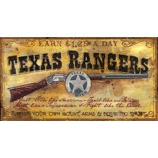 Vintage Signs - Texas Ranger