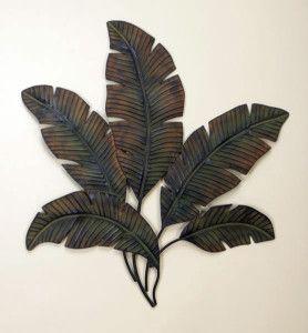 Tropical Leaves Leaf Wall Art Metal Tree Wall Art Metal Wall Decor