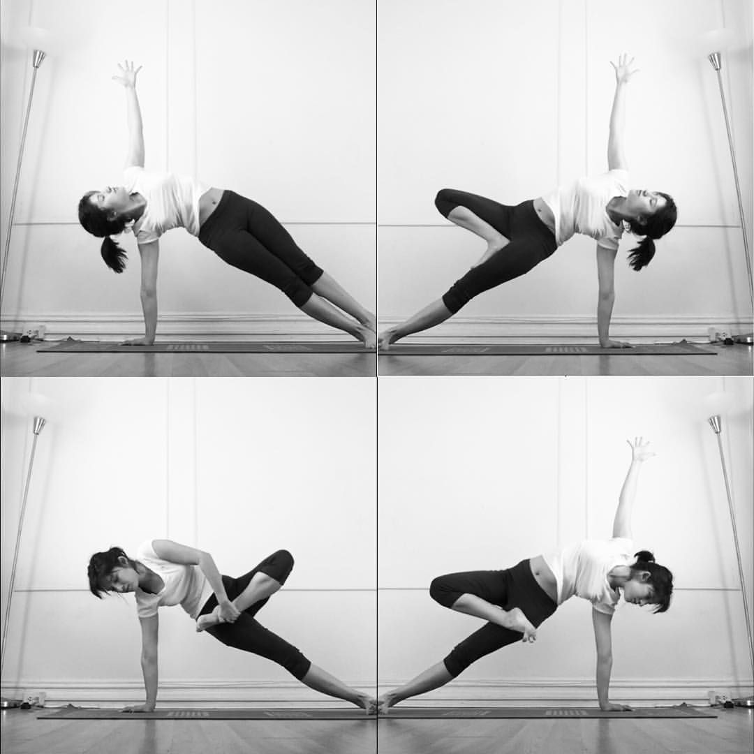 Maria Pashmina On Instagram Coreofgratitude Plancha A Un Lado Con Medio Lotus Buscar El Balance En Media Plancha Es Facil Cuando Yoga Yoga Teacher Fitness