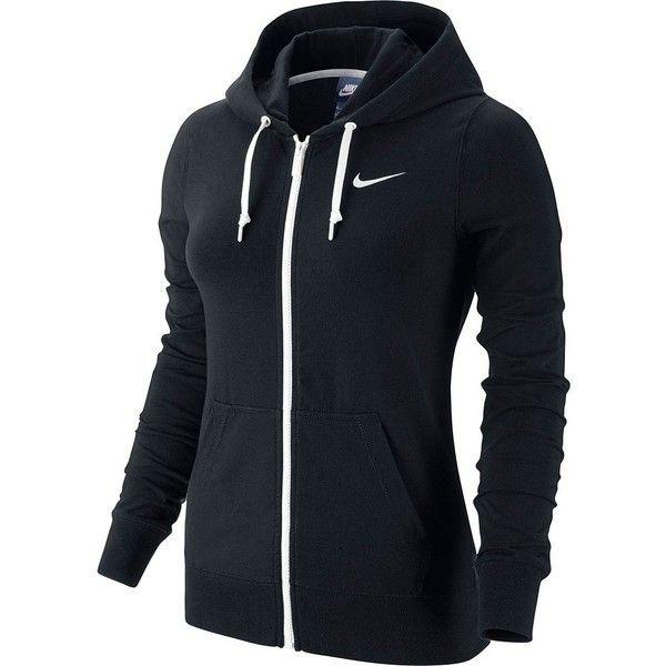 Women's Nike Solid Jersey Full Zip Hoodie ($55) ❤ liked on