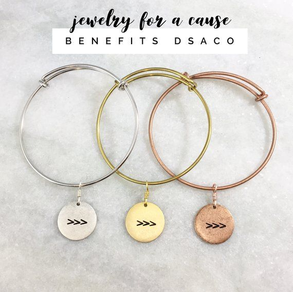 ca28a08a1c21c Jewelry for a Cause | DSACO | Down Syndrome Association of Central Ohio |  The Lucky Few | Three Arrows | Adjustable Bangle Bracelet