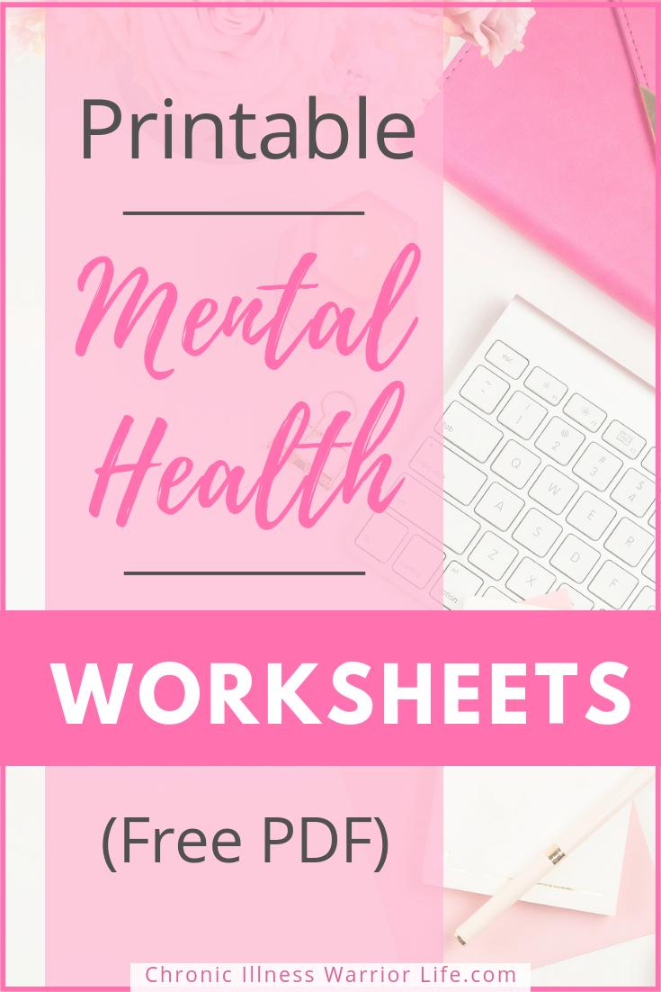 Printable Mental Health Worksheets [Free PDFs]