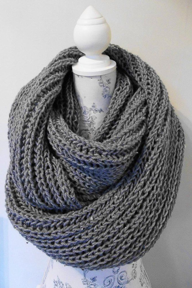 Aran Brioche Infinity Cowl Knitting pattern by Audrey ...