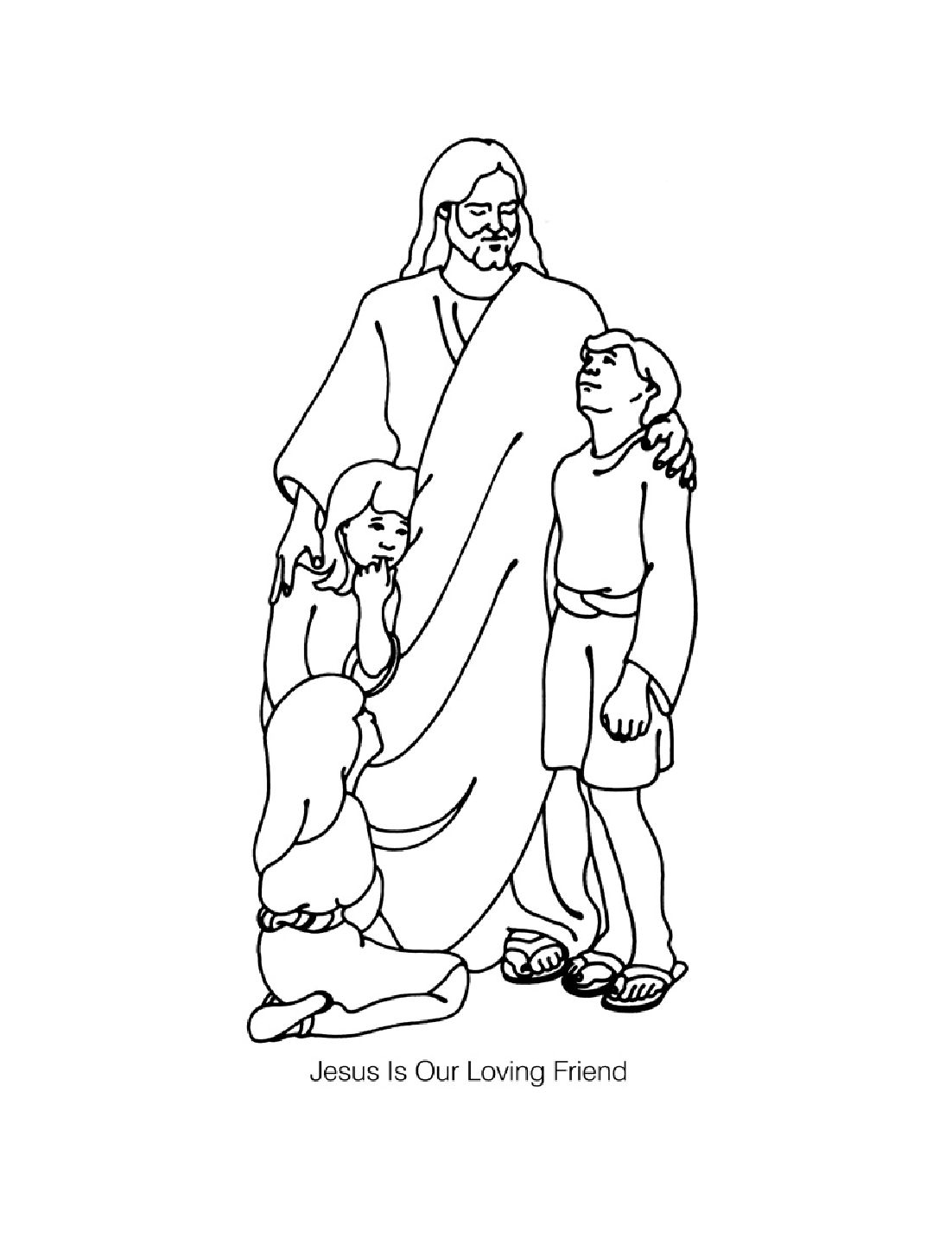 Jesus loves children coloring pages  Jesus coloring pages