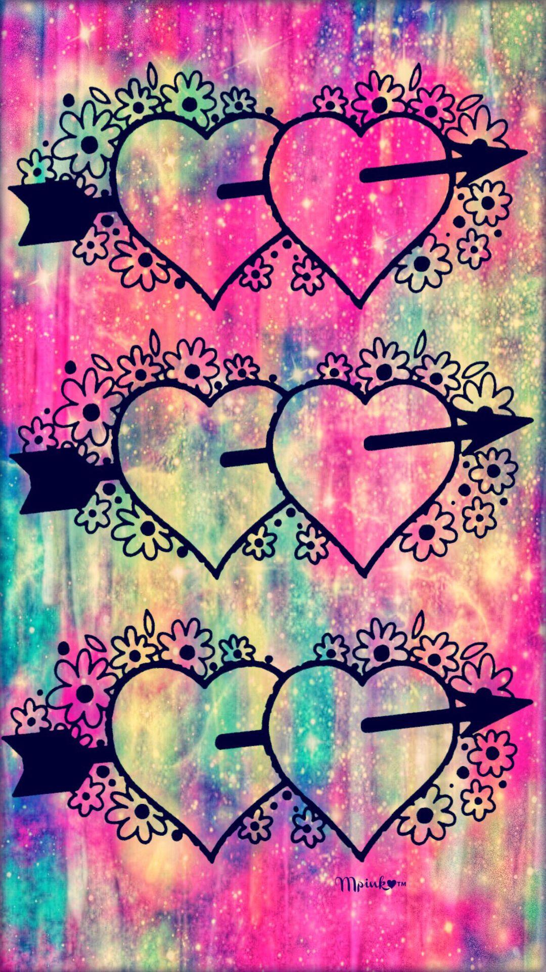 Vintage Floral Hearts Galaxy Wallpaper Androidwallpaper Iphonewallpaper Wallpaper Galaxy Sparkle Glitter Lo Galaxy Wallpaper Samsung Wallpaper Wallpaper