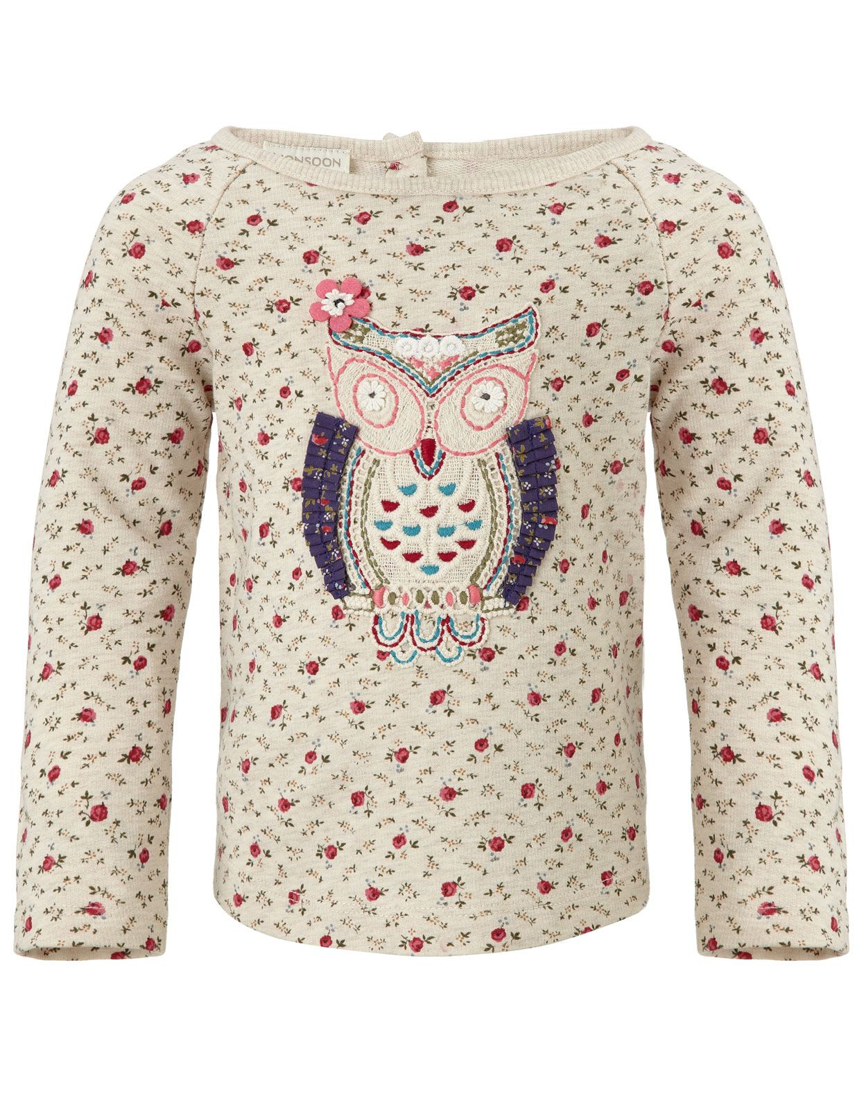 Baby Olivia Owl Sweat Top Monsoon | For Baby | Pinterest
