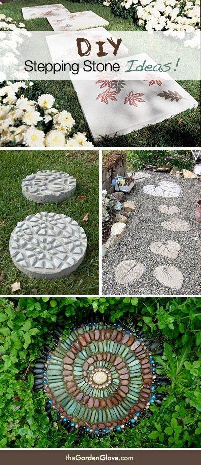 DIY Garden Stepping Stone Ideas Tutorials!   Tuin!!   Pinterest ...