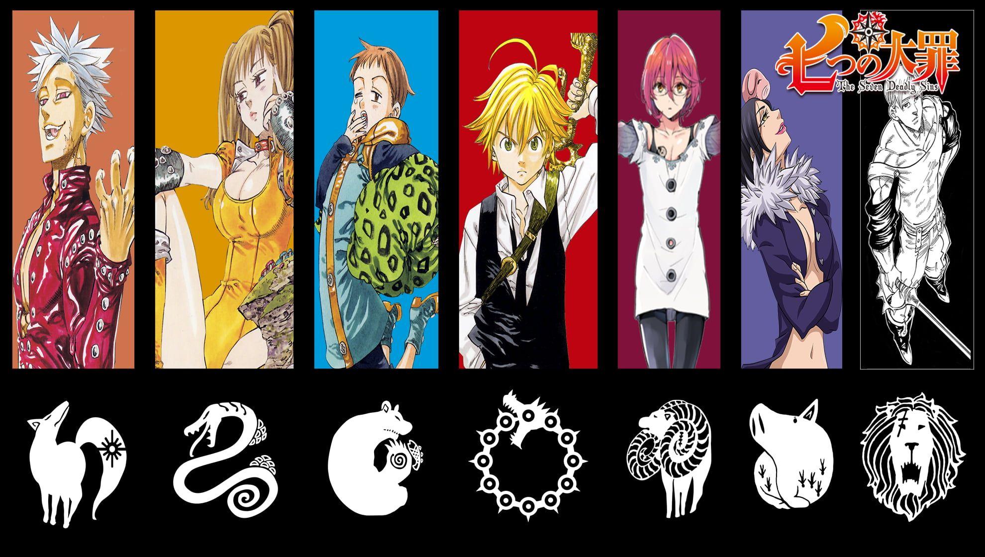 7 Deadly Sins Digital Wallpaper Anime Nanatsu No Taizai Manga Colorful Anime Boys Anime Gi Iphone Wallpaper Vintage Anime Wallpaper Iphone Seven Deadly Sins