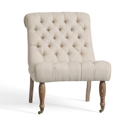 Carolyn Tufted Slipper Chair Rc Patio Chair Cushions