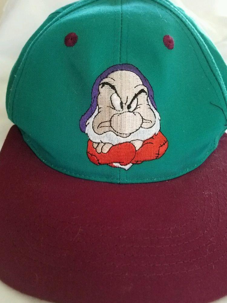 6f101c3d296 Youth Kids Vintage 90s Grumpy Snapback Hat Cap Disney Snow White Seven  Dwarves  Disney  BaseballCap