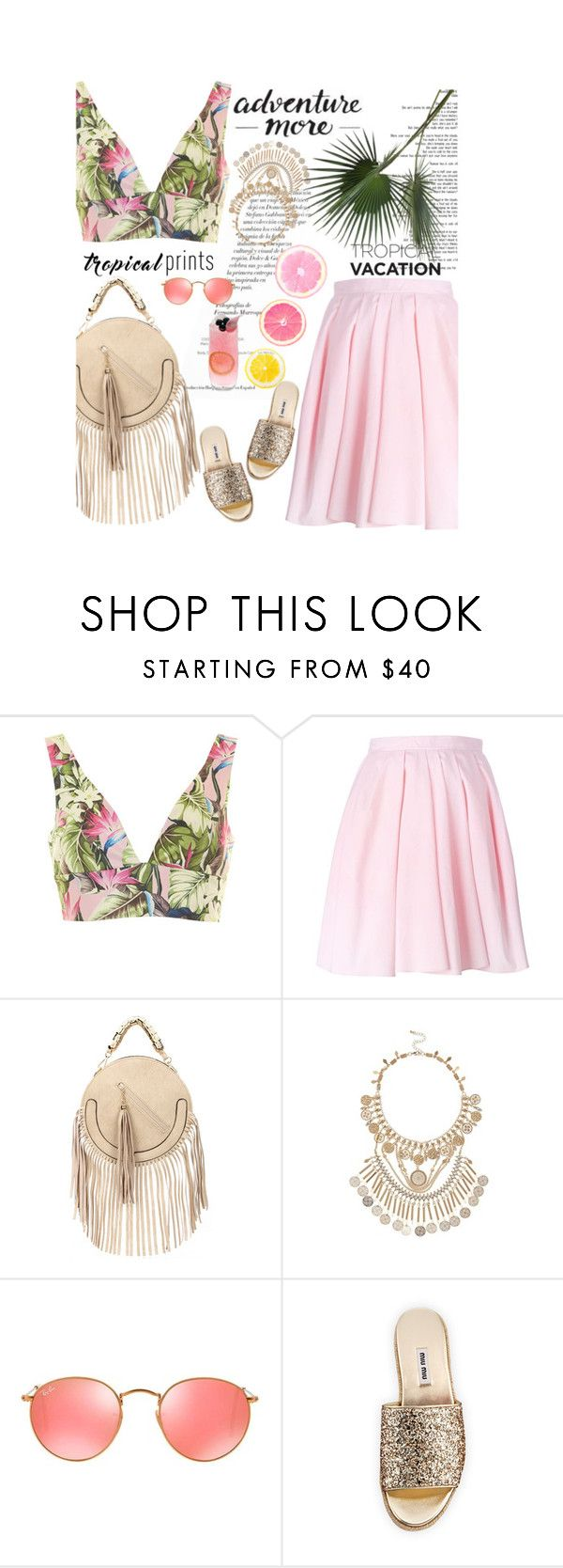 """Untitled #2111"" by amimcqueen ❤ liked on Polyvore featuring Topshop, Carven, Monday, River Island, Ray-Ban, Miu Miu and John-Richard"