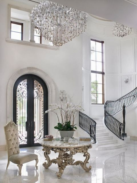 Superior Stunning Classic Grand Foyer Console Table Designs