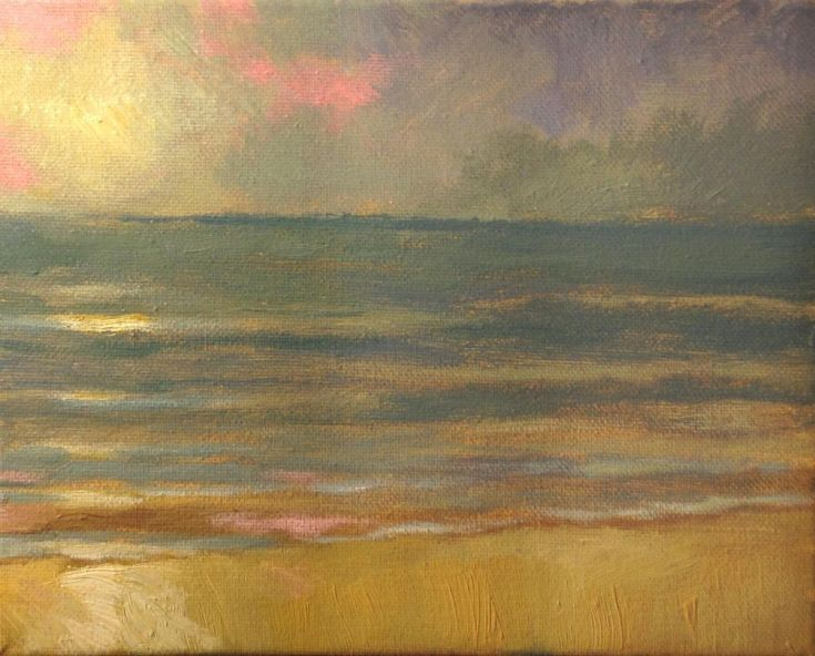 ARTFINDER: Sunset at the Beach, North Carolina by Rod Norman - After living in Oregon for 14 years, I find the beaches of North Carolina much more like those in Florida, where I lived for 12 years. I love the simplicity ...