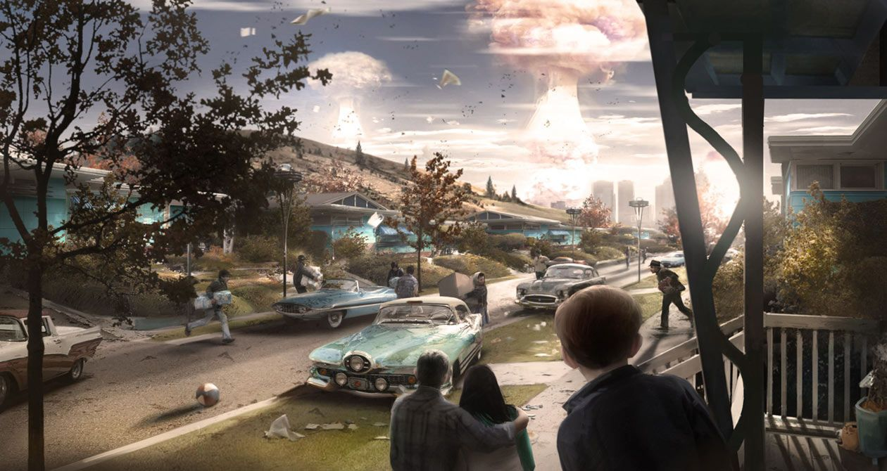 Nuclear Blast from Fallout 4 | Daily Art Inspiration