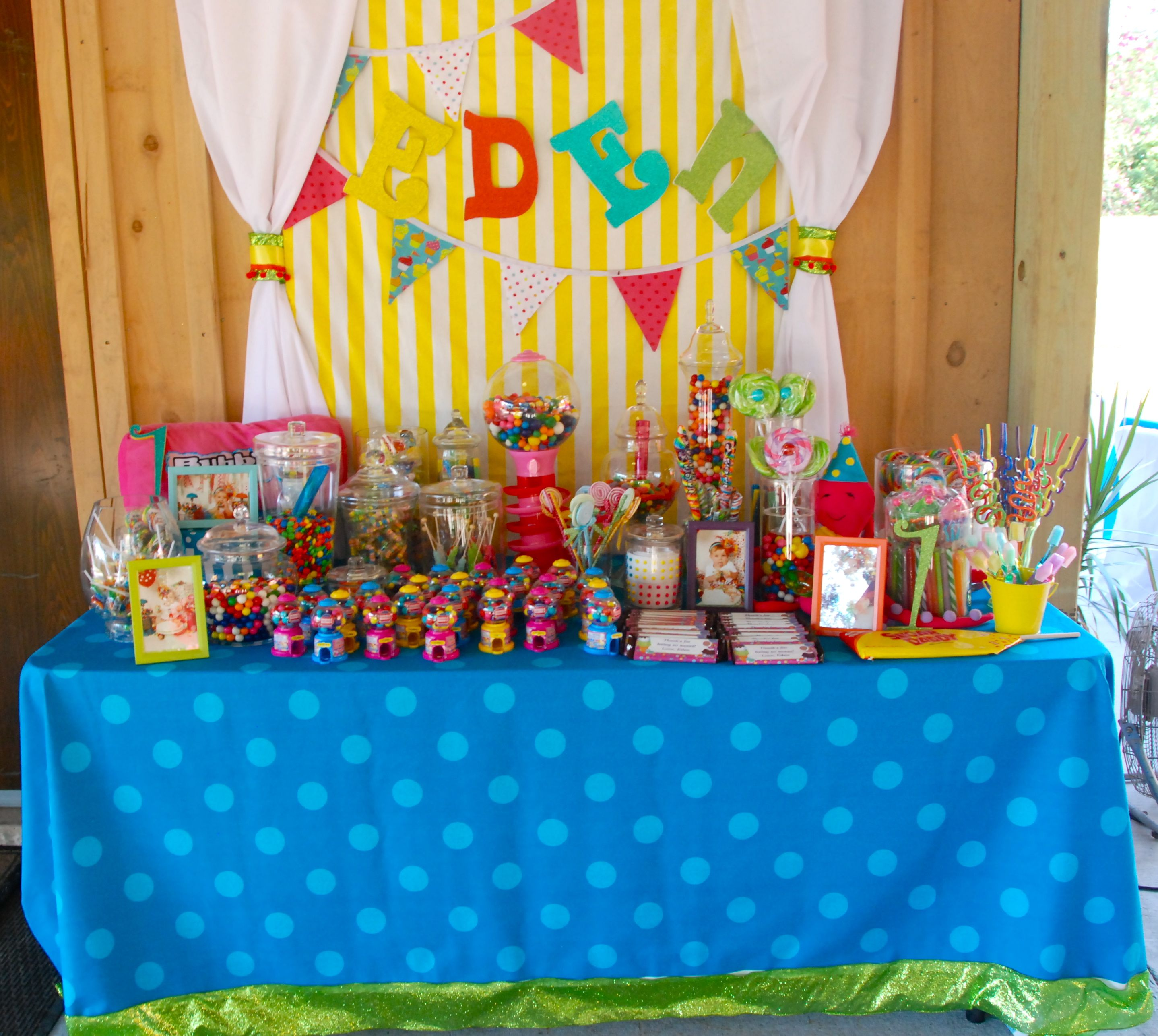 birthday candy buffet | Bday party theme, Candy buffet ...