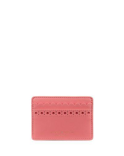 662bd799dfb9 TORY BURCH Block-T Brogue Slim Card Case