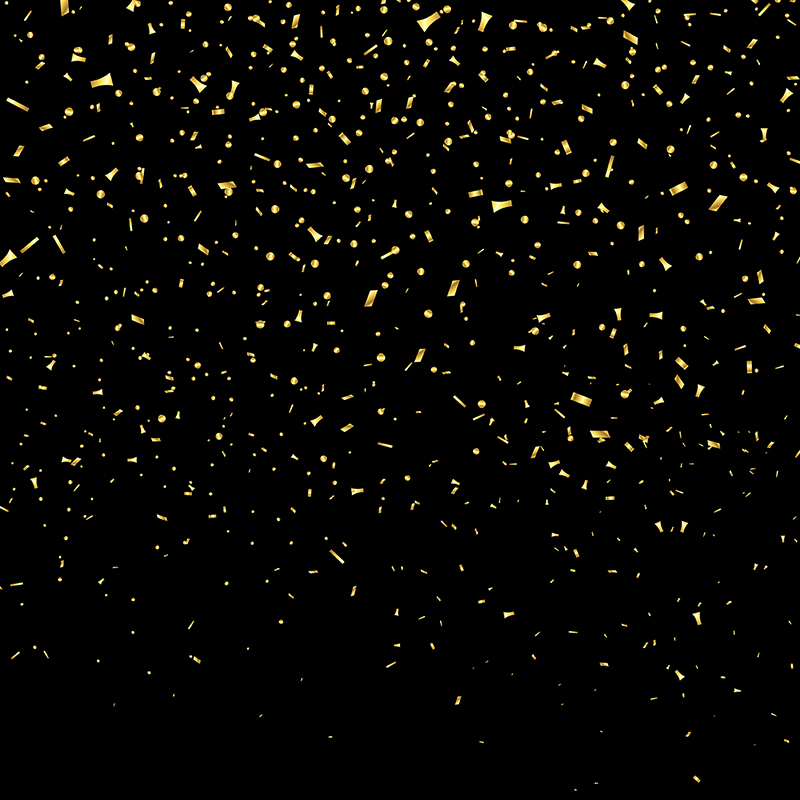 Gold Metallic Confetti 1909 Confetti Happy 2018 Png And Vector With Transparent Background For Free Download Confetti Background Confetti Gold Circle Frames