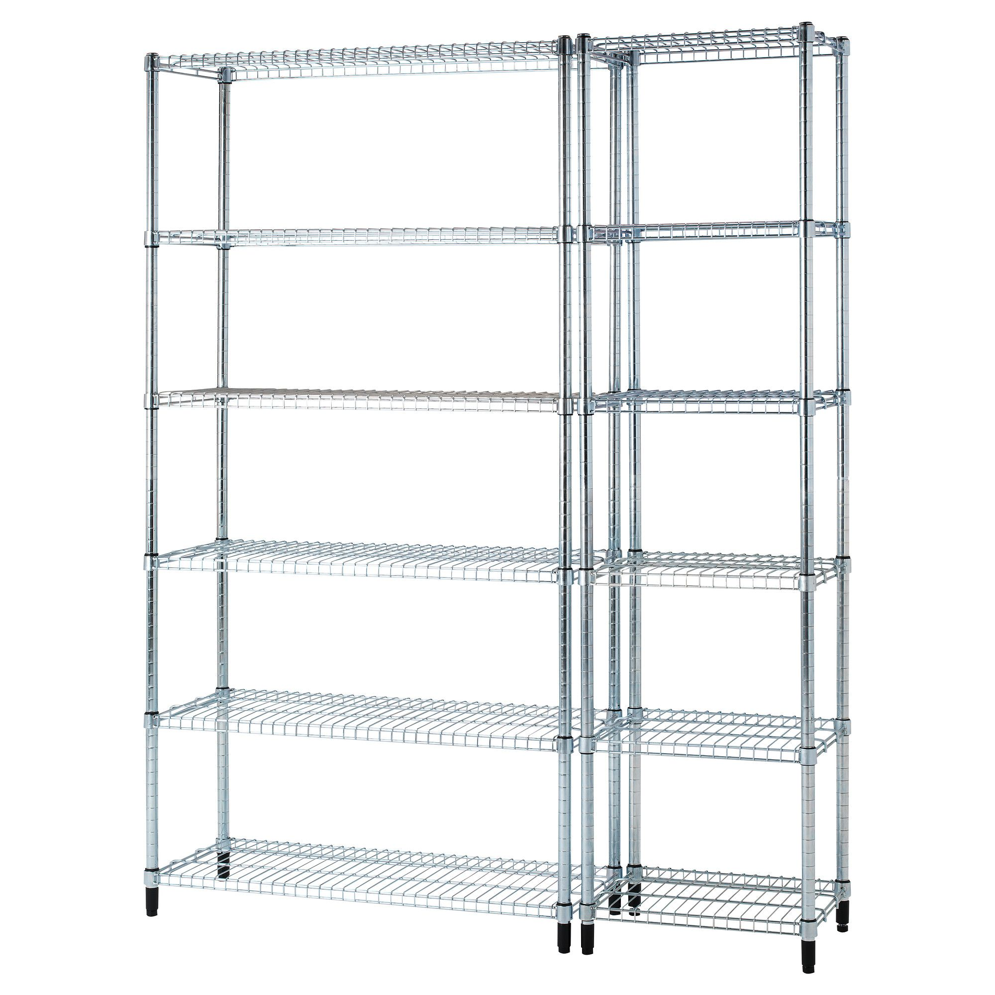 ikea omar 2 shelf sections easy to assemble no tools required also stands steady on an. Black Bedroom Furniture Sets. Home Design Ideas